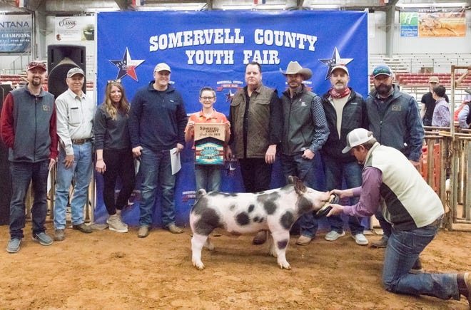 Grand Champion Market Swine, Chandler Davis.
