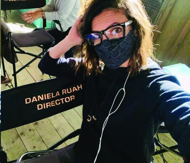 "Portuguese-American actress Daniela Ruah takes a selfie on the first day she sat in the director's chair. She made her directing debut in the 11th episode of season 12 of ""NCIS: Los Angeles,"" whose filming wrapped up this past Tuesday."