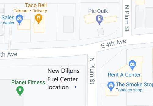 A new Dillons Fuel Center is being constructed at the corner of Fourth Avenue and Plum Street.