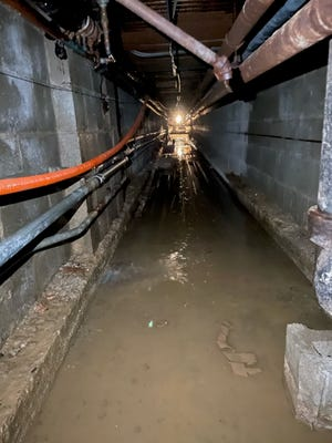 A waterline in a tunnel under Watson Elementary School in Perry Township broke Thursday, forcing officials to cancel classes.