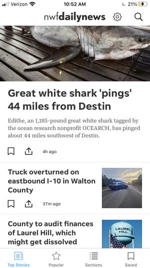 The new Northwest Florida Daily News app has lots of great features.