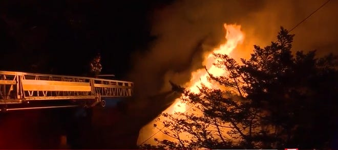 Fire burns a home in Quincy