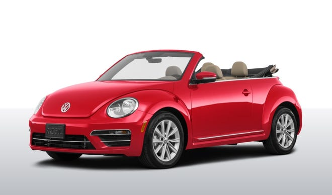 An unabashed fan of brightly colored cars, Carleton Varney owns a red Volkswagen Beetle similar to this one.