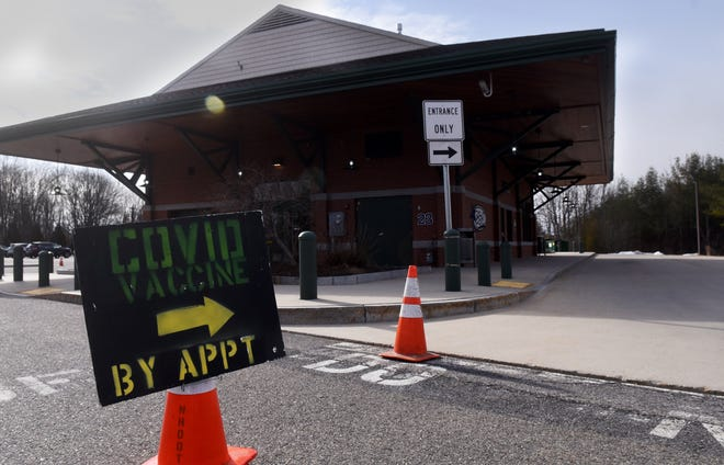 COVID vaccinations are being done in the parking lot at C&J Bus Lines in Dover. The other state site on the Seacoast is at Exeter High School.