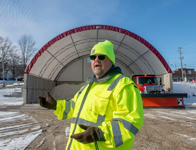 Suffield Township completed construction on a new salt shed.  The structure will decrease money spent on salt purchased from the state. Pete Einloth, Suffield road supervisor, explains the benefits of the addition to the township.