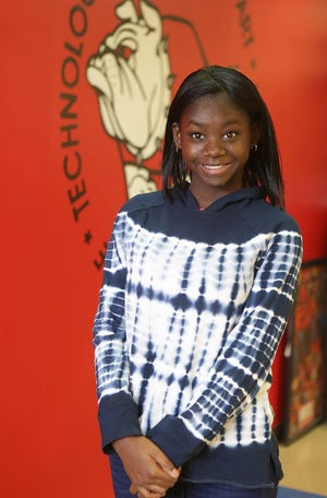 Jamiya Martin is a Canton Repository United Way of Greater Stark County Kid of Character for January.