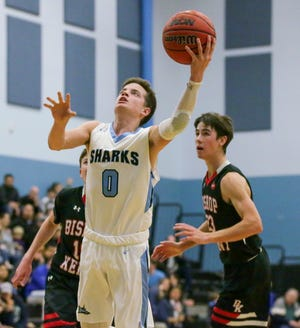Ponte Vedra's leaders arejunior forwardLuke Pirris and senior guard Alex Madson, pictured. Pirris leads the team in scoring byaveraging 17 points with five rebounds per game.Madson is averaging nine points and 2.6 assists per game.