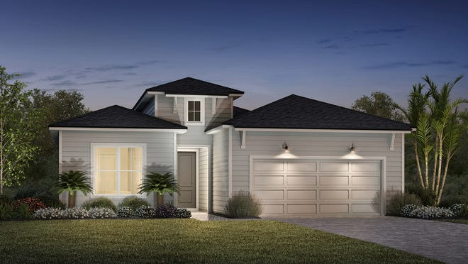 The Penelope model offered at Mill Creek Forest is 1,918 square feet. The community is off Greenbriar Road.