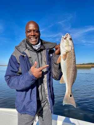 If you're a football fan - especially a Redskins fan - you might recognize Darrell Green who fished with Captain Rob Bennett for the second year in a row last week. Green is considered to be among the finest cornerbacks ever to play the game. His pro career started in 1983 and lasted until 2002. He was inducted into the Hall of Fame in 2008. Rob says he likes the area so much he's considering a move here.