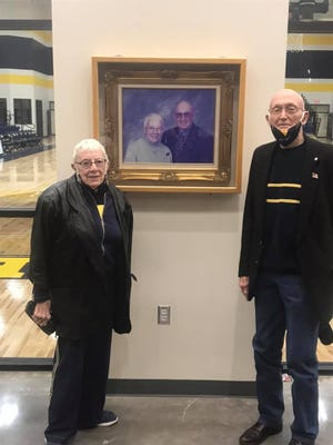 """Stephenville High School's Gandy Gymnasium is named after Les and Myra Gandy. Les served SISD from 1971-2005 and Myra from 1974-99. The gymnasium was rededicated on Friday, Jan. 15. """"It was a great honor to rededicate the new gym to two great supporters of our Yellow Jackets and Honeybees,"""" read a social media post from the district."""
