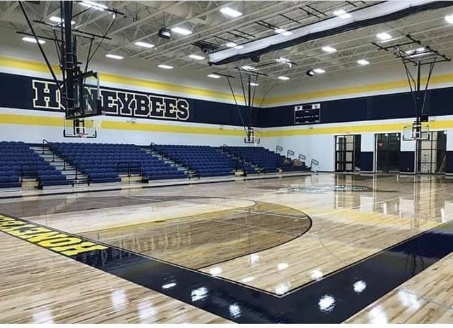 Stephenville High School's Gandy Gymnasium is named after Les and Myra Gandy. The gymnasium was rededicated on Friday, Jan. 15.