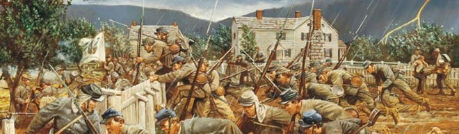 Virginia Military Institute cadets in battle.