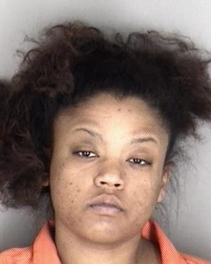 Topeka police early Wednesday morning arrested Tia Blackford, shown here.