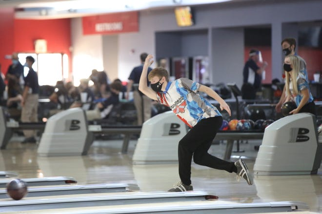 Shawnee Heights' Aidan VanMetre captured his second meet title of the week at Wednesday's Topeka West Triangular. VanMetre rolled a 620 series to win by 53 pins.