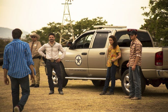"""From second left, George Lopez, Frank Grillo, Andie McDowell and Jake Allyn star in """"No Man's Land."""""""