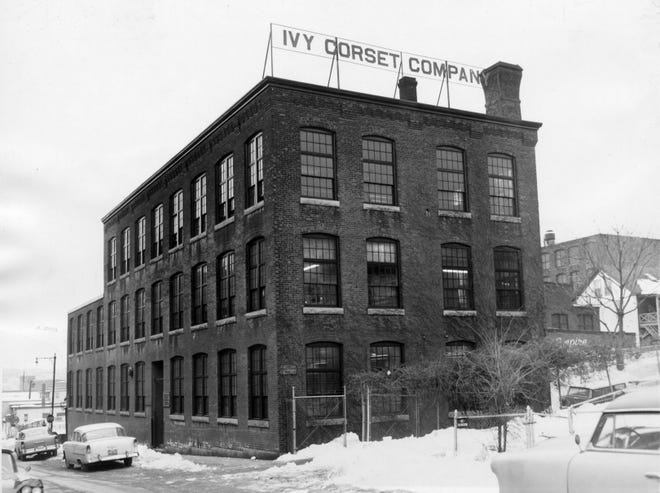 The Ivy Corset Building, 40 Jackson St., Worcester, seen in a 1962 photo.