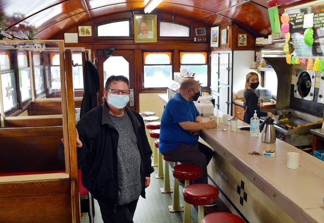 James K. George, owner of the Boulevard Diner on Shrewsbury Street Thursday.
