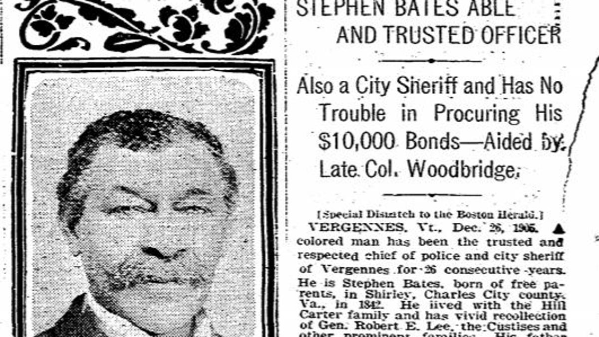 Vermont City Plans to Build Monument Honoring State's First Black Sheriff and Chief of Police