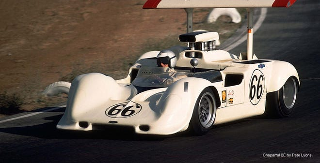 Jim Hall's legendary Can Am Chaparral race cars will be featured at the 2021 American Festival of Speed.