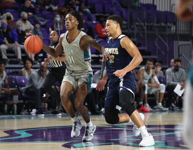Florida SouthWestern plays Hillsborough in men's basketball on Wednesday, Jan. 20, 2021, at Suncoast Credit Union Arena in Fort Myers.