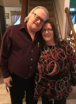 Jim Hoffman, left, husband of Jeanne Holmes-Hoffman, right, died from complications from the coronavirus on Jan. 3. It is believed that Holmes-Hoffman contracted the virus while teaching in Kenosha and unknowingly passed it to her husband.