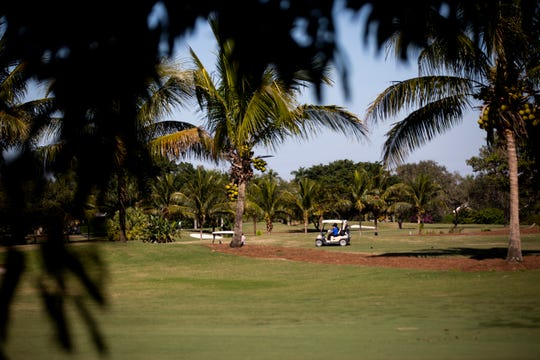 Players golf at the Naples Beach Hotel and Golf Club on Thursday, January 21, 2021
