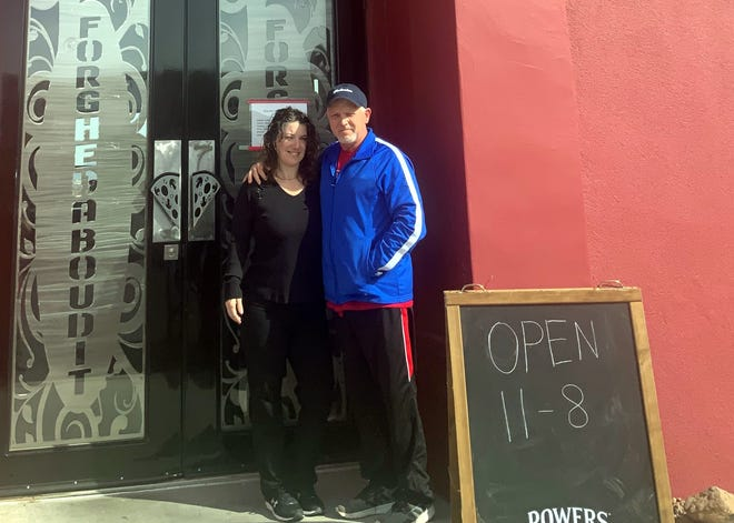Kim and Bob Yacone welcome diners to Forghedaboudit Southwest Italian Restaurant at 1338 Picacho Hills Drive. The Yacones also own and operate Forghedaboudit Express at 115 N. Silver St. in Deming, NM.