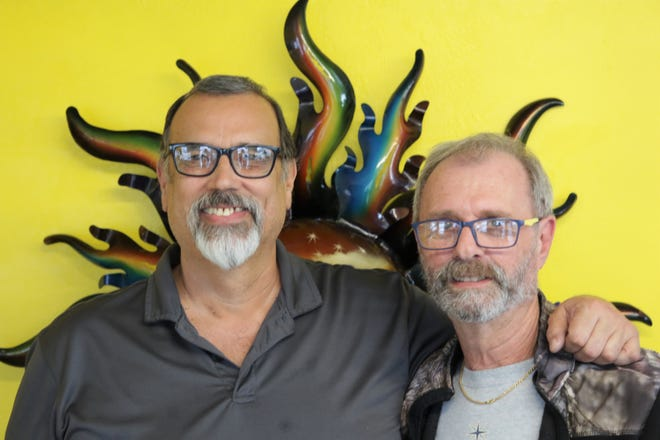 R&R Mexican Grill co-owners Rudy Hernandez, left, and Roy Allen, right opened Aztec's latest food establishment on Saturday, Dec. 19, 2020.
