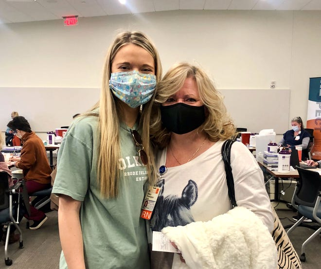 Campbell Thompson, left, and her mom, Stacy Thompson, have now received both doses of the COVID-19 vaccine.