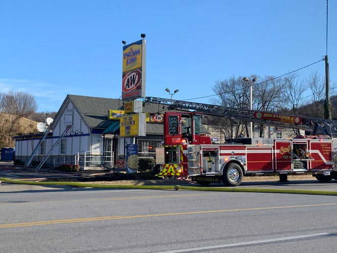 City of Staunton Fire Department respond after fire at Long John Silvers