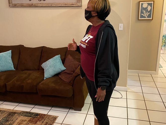 """Yaquanda """"Speakslife"""" McCall, who is a preacher and """"went from room to room, saying a blessing for each one."""" Debra Harris says that everyone who came and helped are themselves, """"blessings."""""""