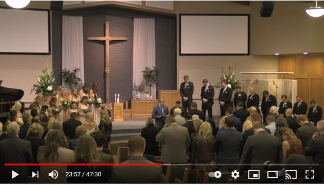 Visalia Christian Reformed Church livestreamed a mostly mask-less, indoor wedding of at least 50 people on Jan. 9, 2021.