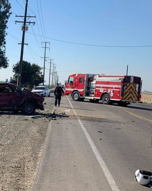 A woman was life-flighted to the hospital with major injuries Wednesday afternoon after a pickup collided with a milk tanker on Avenue 280 and Road 48, just outside Visalia.