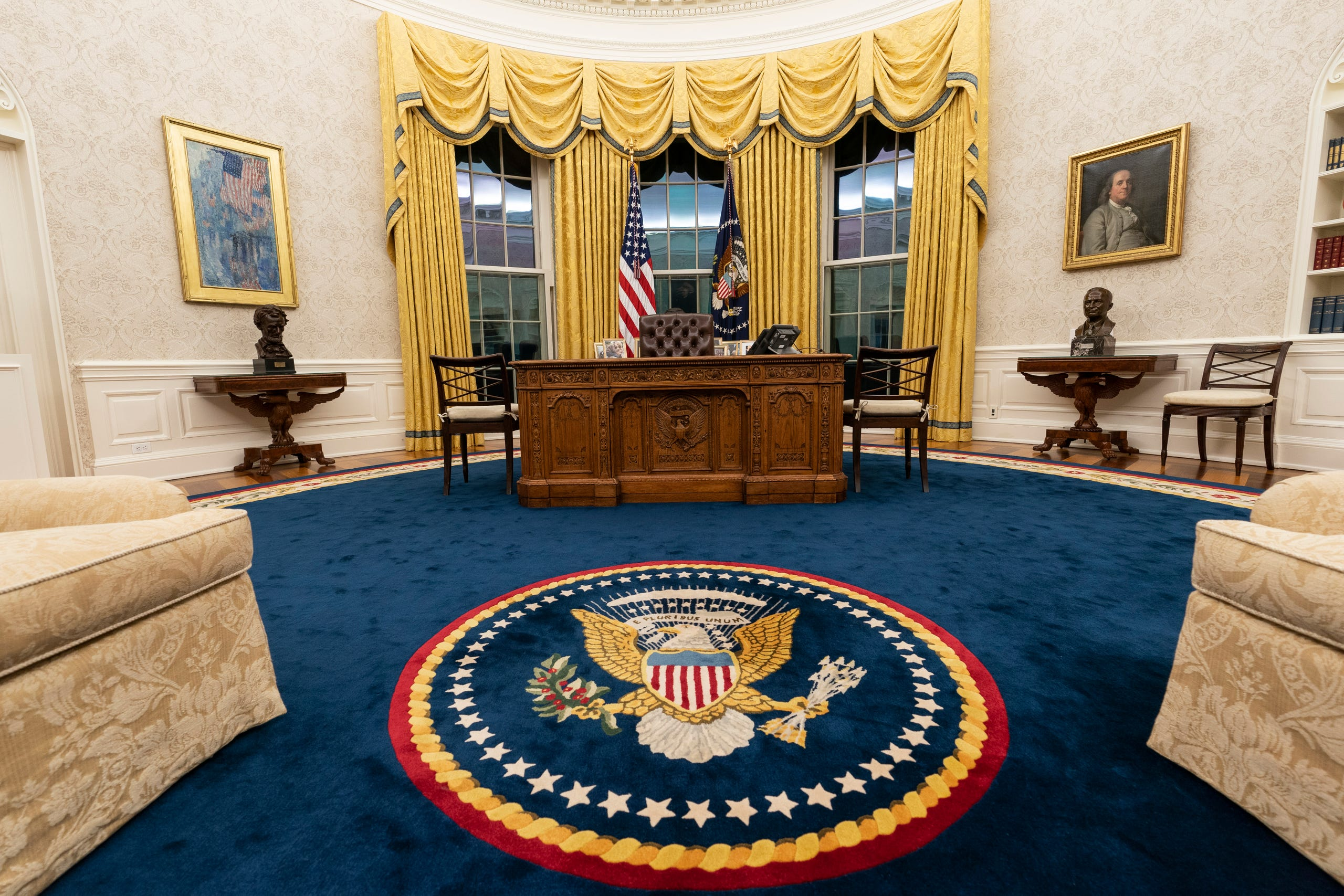 Oval Office redecorated for President Joe Biden