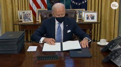 Climate change, LGBTQ rights and the border wall are just a few items President Joe Biden addressed in signing his first executive orders.
