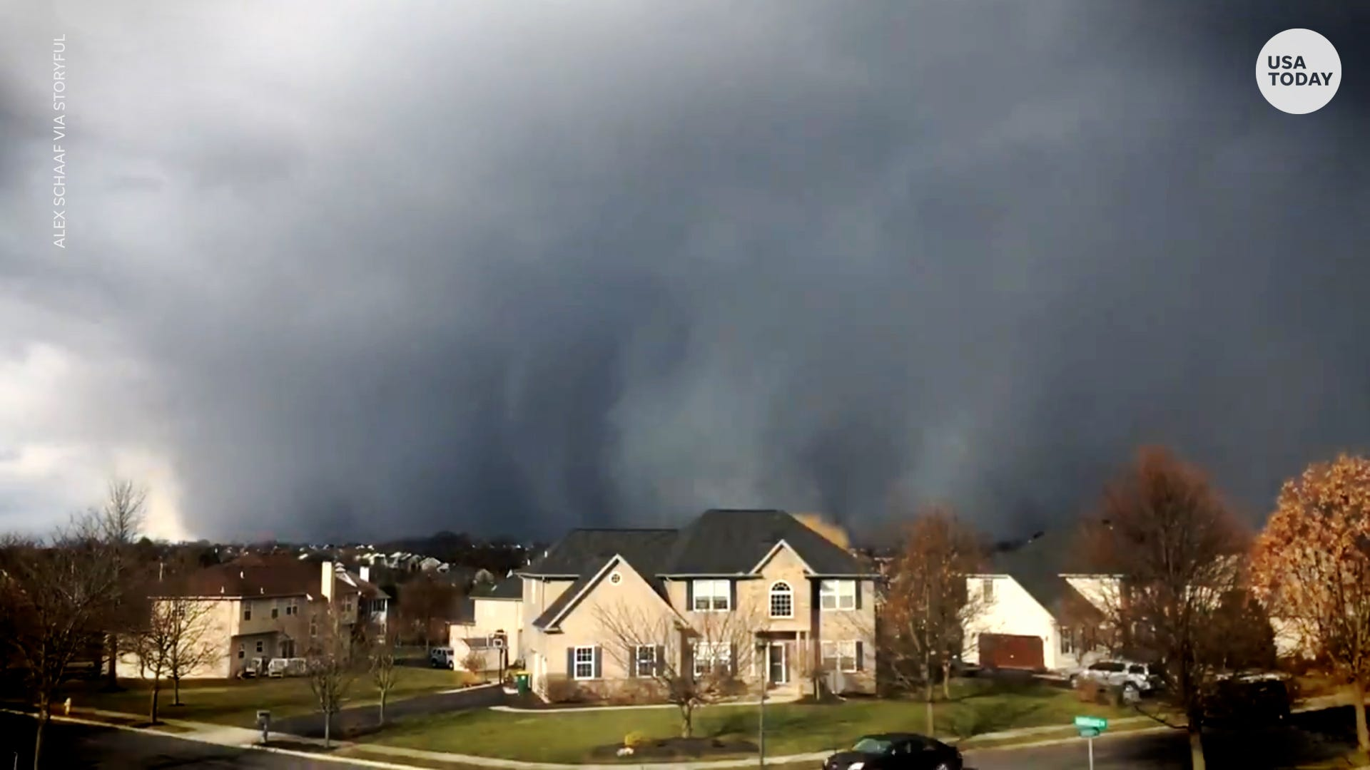 Time lapses show ominous snow squalls envelop northeastern towns