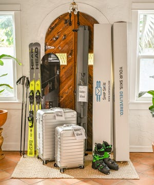 Travel safer and easier by shipping your skis, snowboard and luggage ahead on your next family ski trip.