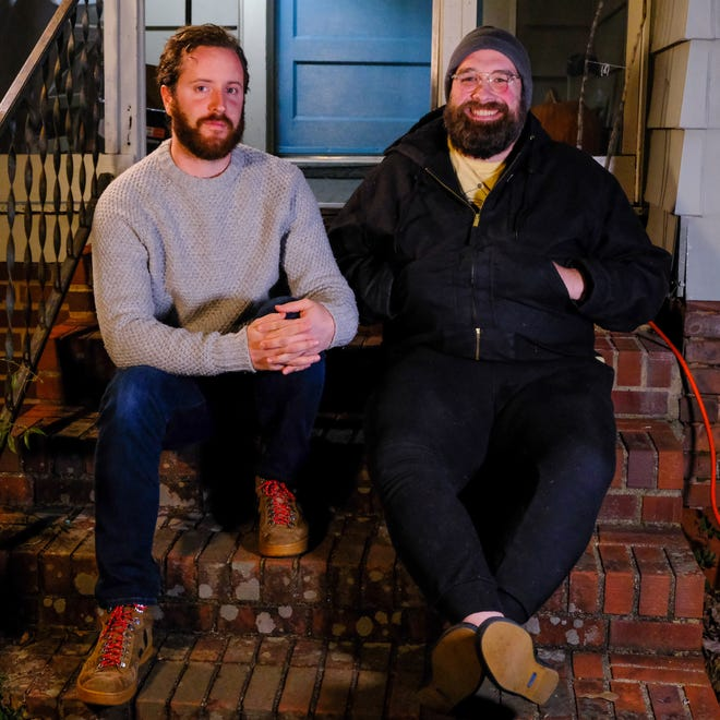 """Chase Brantley and Joey Carter are the hosts of the new podcast """"To White Folks."""" """"We want to show what anti-racist work looks like in white communities,"""" Carter said."""