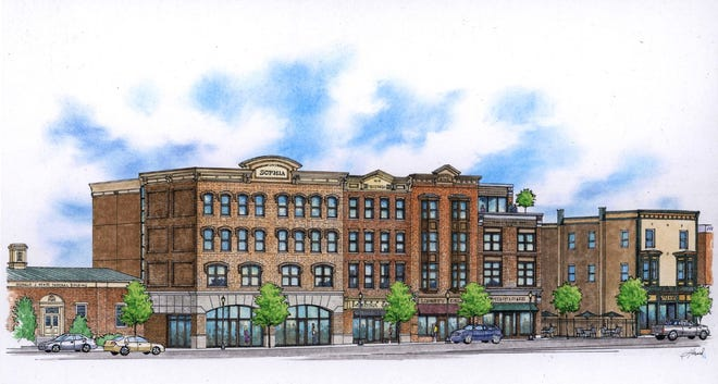 """A rendering of """"Liberty View"""" provided by the Medina City Development Corporation."""