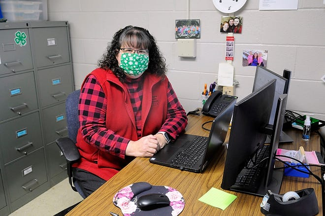 Kathy Blackford is retiring from the Ohio State Extension Office after 30 years.  TOM E. PUSKAR/TIMES-GAZETTE.COM