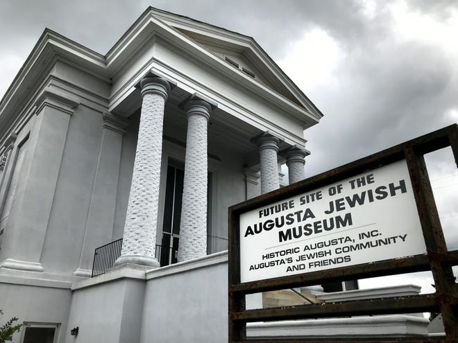 The original Congregation Children of Israel Synagogue building, completed in 1869, sits next to the Court of Ordinary building in downtown Augusta. Both are being used for the Augusta Jewish Museum.