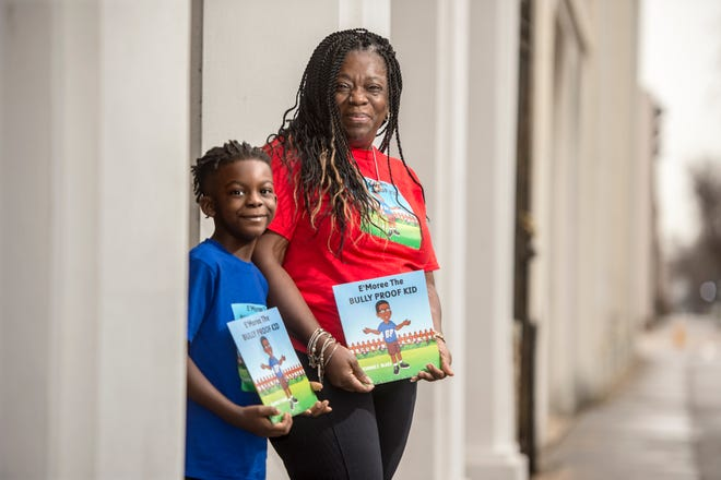 """Joanne Blake wrote the book """"E'Moree The Bully Proof Kid,"""" which was inspired be the experience of her 7-year-old grandson, E'Moree Thompson."""