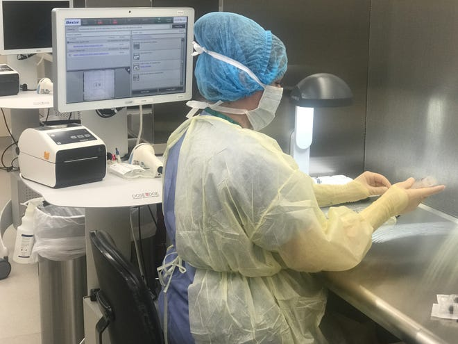 Hendrick Health provided this photo of some of the medication being prepared in Hendrick's main pharmacy in Abilene.