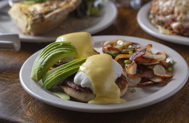 Chorizo Benedict from Wildflower Cafe in Clintonville.