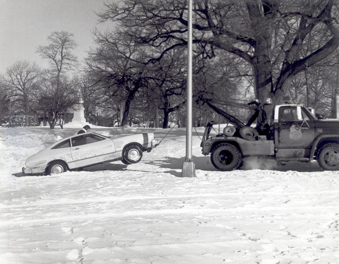 This car had to be towed during the Blizzard of 1978. At least it had a good excuse, unlike most cars.
