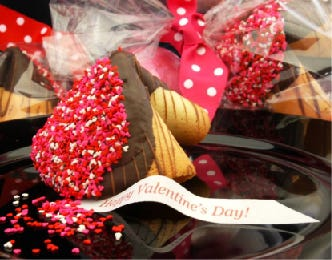 Buy a personalized Giant Fortune Cookie as a Valentine's Day gift and the Dover company will donate $5 to the Somersworth Festival Association.