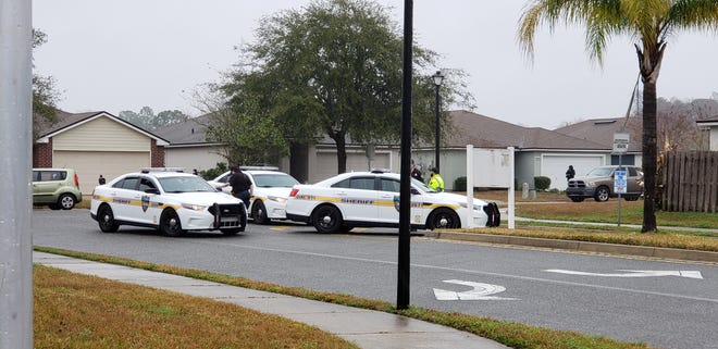 Jacksonville police investigate a deadly shooting Friday on Watershed Drive.