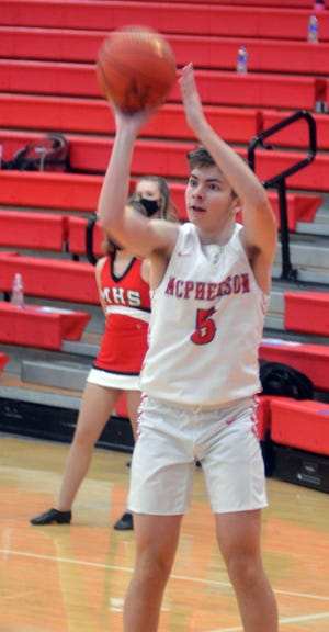 Eli Pyle scored 19 in McPherson's first playoff game, a win over Pratt. [FILE]