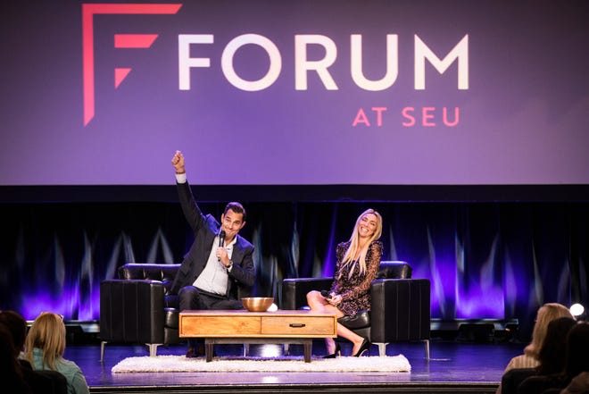 Bill and Giuliana Rancic were featured speakers during the SEU Forum in 2019. This year's speakers include author and Love Does founder Bob Goff, Facebook's head of faith partnerships Nona Jones and former NFL coach Tony Dungy.