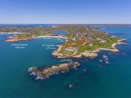 """The Aquidneck Land Trust (""""ALT"""") announced the conservation of 13.62 acres of land in Newport, split between two properties located on the island's south end."""